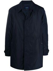 NWT Polo Ralph Lauren Water Repellent Oxford Coat Navy Blue Mens Size L $398