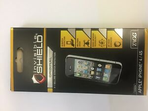 Genuine Zagg InvisibleSHIELD Screen Protector For Apple iPhone 4/4S NEW