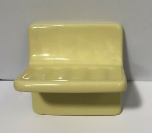 Vintage Yellow Ceramic Tile In Soap Dish NOS