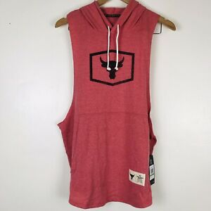 Under Armour X Project Rock Sleeveless Hoodie 1347260-661 Men's Size XLarge