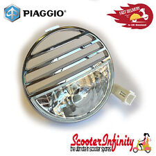 Horn Cover Round with Sidelight Vespa GTS/GTV (Piaggio) (Chrome)