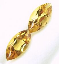 5.62Cts Tol, Natural Gem Lot/2 Pcs Loose Marquise Yellow Citrine 15x7.1-15x7.2MM