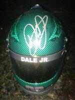 DALE EARNHARDT JR Signed Autograph Mountain Dew  Mini Helmet