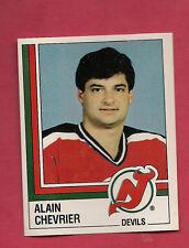 RARE 1987 PANINI # 73 DEVILS ALAIN CHEVRIER GOALIE STICKER   CARD