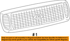 FORD OEM 05-07 F-250 Super Duty-Grille Grill 6C3Z8200BC