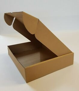 Cardboard Lidded Box Postage Postal Packaging Mail Small Parcel Gift 9.3x7.7x1.9