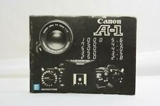 Canon A-1 Camera Instruction Manual English