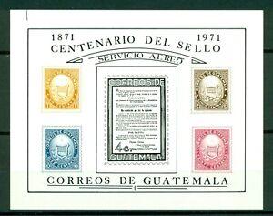 Guatemala Scott #C458 MNH S/S Century of Guatemalan Stamps $$