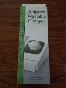 Alligator Vegetable Chopper Stainless Steel Construction & Sharpest Steel Blades