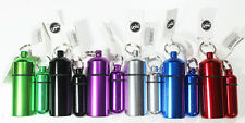 Lot Of 12 Geocaching Metal Id Pill Holder Case Container with Key Rings