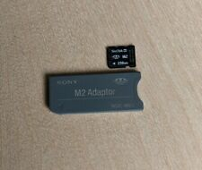 Sony M2 Adapter (MSAC-MMS) + SanDisk 256MB M2 Card