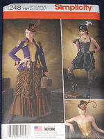 Steampunk Costume Skirt Corset Jacket size 6-12 Simplicity 1248 Sewing Pattern