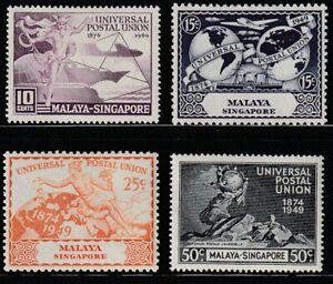 Singapore   1949   Sc # 23-26   UPU   MLH   (2057-3)
