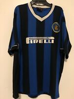 Inter Milan Vintage Blue Home Jersey Men's Size L Pirelli Italy Pre-Owned