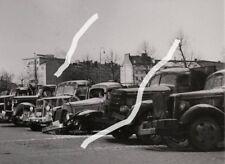 24x18cm Archiv Foto 1944 Beschädigte LKW MAN Mercedes Büssing Saurer photo