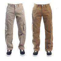 Men's ETO Cargo Combat Jeans Latest Designer Pants Stylish Pocket Beige 28 - 42