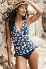 Neues AngebotNext Marineblau Rosa Gelb Floral Badeanzug Schwimmen Kostüm UK 16