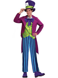 Adults Tea Party Mad Hatter Fancy Dress Costume Wonderland World Book Day Mens