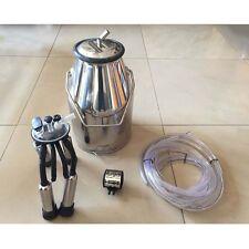 ST Portable Farm Cow Dairy Cattle Milking Milker Machine Bucket Tank Barrel Set