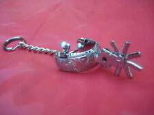 Key Chain -- Western Show Spur, Stainless Steel  prod #KC-521A (flat tips)