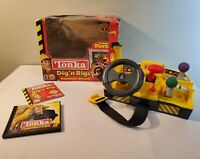 Vintage 2000 Tonka Dig n Rigs CD Rom Playset Hasbro w/ Game & Tonka Construction