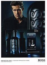 PUBLICITE ADVERTISING 035  2010  HUGO BOSS parfum homme BOTTLED NIGHT & R. RAYNO