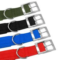 Adjustable Nylon Dog Neck Strap for Large Medium Puppy Pets Sponge Buckle Collar