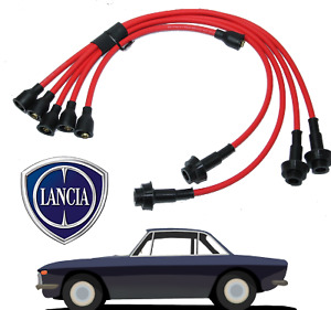 LANCIA FULVIA 1300 SILICONE HT LEADS SPARK PLUG IGNITION 7mm MAG WIRE RED KIT