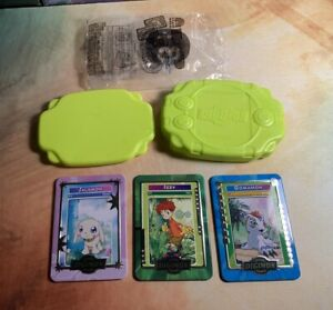Digimon Taco Bell Promo Metal Cards & Green Digivice Rare Digi-Battle Bandai