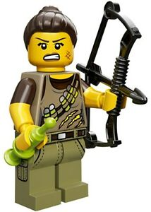 LEGO Minifigures Series 12 Dino Tracker hunter Minifig with compound bow