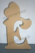 VICTORIAN LETTERS WITH HEART IN MDF (18mm thick)/WOODEN CRAFT SHAPE/DECORATION