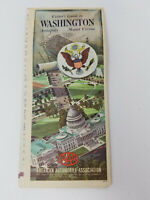Vintage 1966-1967 AAA Visitor's Guide to Washington DC Annapolis Mount Vernon