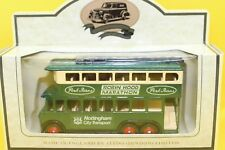 Lledo Days Gone 1928 Karrier E6 Trolley Bus in Nottingham Livery and Park Farms