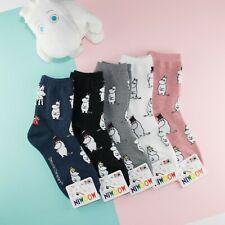 Moomin Valley Licensed Korea Womens Socks Cute Character Novelty Cartoon
