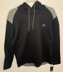 Adidas Mens Golf Tech Pullover Hoodie Black/Gray Size Large