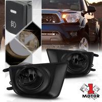Smoke Lens Fog Light Bumper Lamps w/Switch+Harness+Bezel for 12-15 Toyota Tacoma