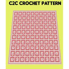 Celtic Twist Blanket  - C2C Graphghan Crochet Pattern