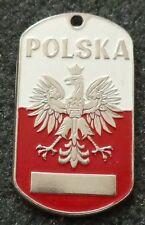 RUSSIAN DOG TAG PENDANT MEDAL   POLSKA POLAND     #163S