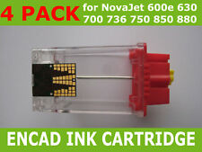 4 Pack Empty Ink Cartridge for Encad NovaJet Pro 600e 630 NEW