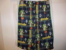 Super Mario Bros Yoshi Navy Blue Shorts Boys Size 8 NWT