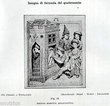 DENTISTA: CLISTERE PRIMA DELL'ESTRAZIONE DENTARIA.Dentiste.Dentist.Zahnarzt.1929