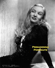VERONICA LAKE 8X10 Lab Photo B&W SEXY Black Gown PEEKABOO Blonde Beauty Actress
