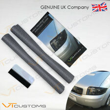 2 Lots of 30 x 60cm Headlight Tinting Perforated Mesh Film + FREE SQUEEGEE