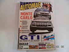 AUTOMAG N°4 02/1989 MONTE CARLO LES GTI 205 R5 GT TURBO GOLF DAKAR 405 4X4  K27