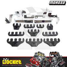 Moroso Spark Plug Lead Separators BLACK Fits Ford 289-351W - MO72133
