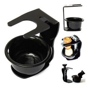 Universal Black Acrylic Shaving Brush Razor Stand Holder Set & Mug/Cup/Bowl NEW