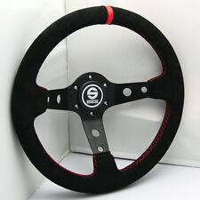 340mm Suede Leather Deep Dish Steering Wheel SPC MOMO Racing OMP Drifting RL