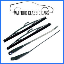 MGB GT Stainless Steel and Chrome Wiper Arm and Blade Set