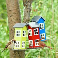 Outdoor Garden Yard Wild Bird Feeder Weatherproof Green House Tree Bird House