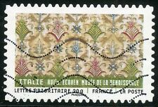 TIMBRE FRANCE AUTOADHESIF OBLITERE N° 515 / TISSUS DU MONDE / TISSU ITALIEN